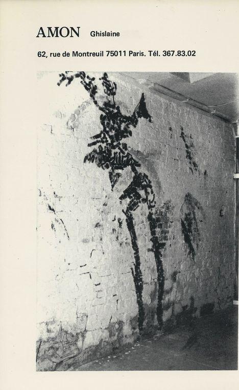 Fresques, rue Hélène 75017 Paris - Janvier 1982