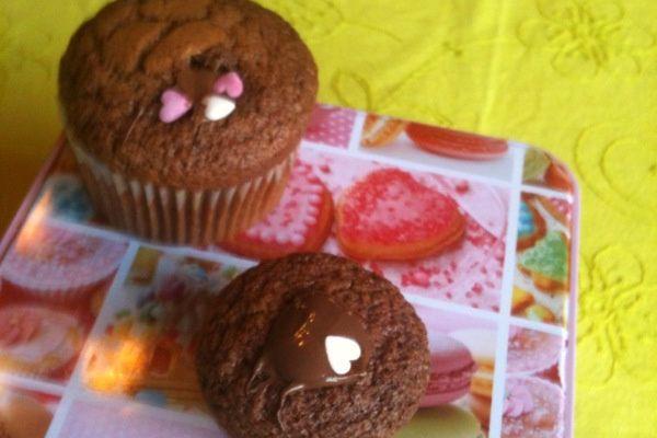 Vos réalisations : les muffins nutella de Carine...