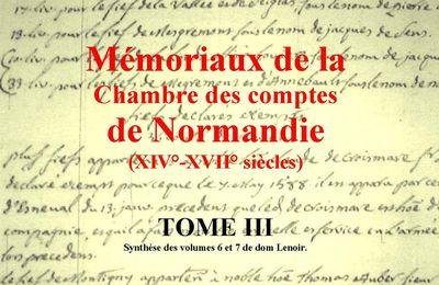 Mémoriaux de la Chambre des comptes de Normandie tome 5