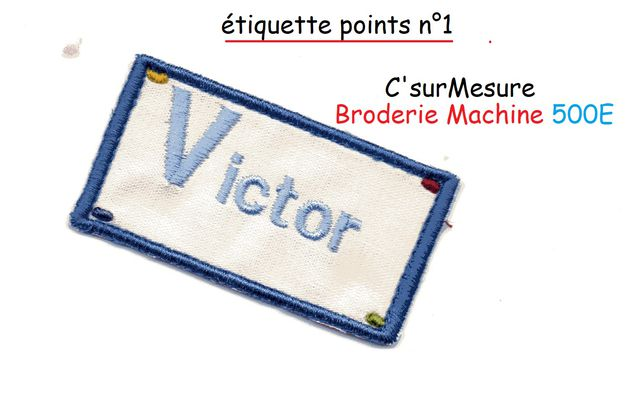 Broderie Etiquette points n°1.