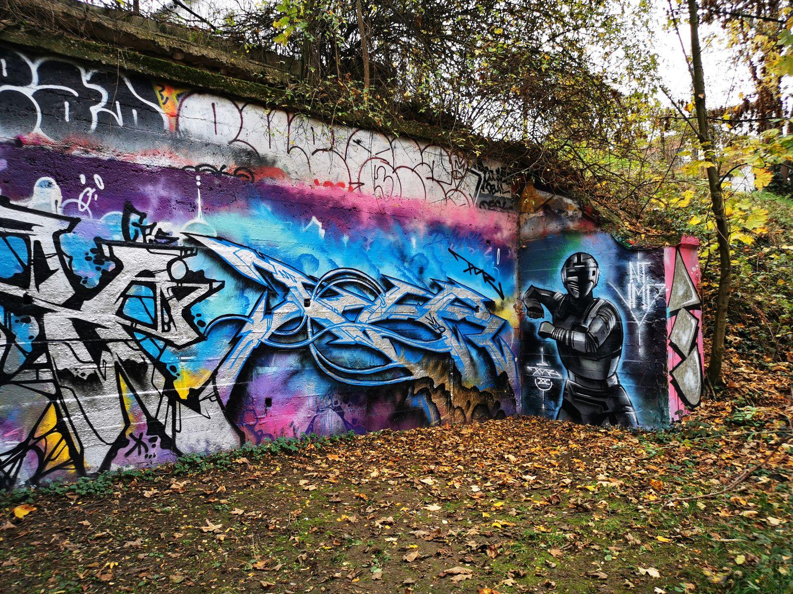Street art et nature à la coulée verte (Colombes)