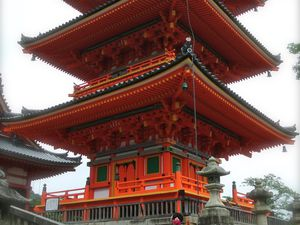 Kyôto : Le Kiyomizu-dera 清水寺 (Temple de l'Eau Pure) et son célèbre balcon UNESCO
