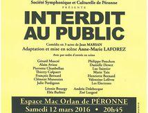 Rideau D'arlequin Interdit au Public 2016 Peronne