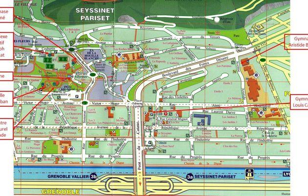 Plan des lieux d'activité