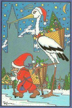 Humour Alsacien la cigogne de Noël