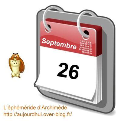 Personnalités nées un 26 septembre