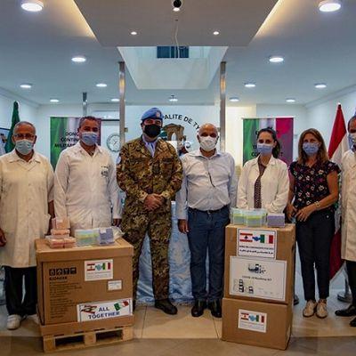 Shama:militari italiani UNIFIL donano apparecchiature per analisi tamponi a ospedali
