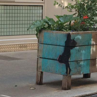 Parcours d'Art Urbain sur une vingtaine de jardinières de la Rue Daguerre