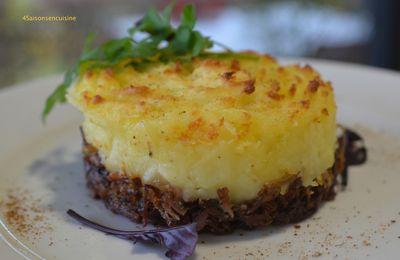 Parmentier de confit de canard, foie gras et pécorino à la truffe