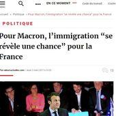 Macron sur l'immigration: l'avant / l'après - MOINS de BIENS PLUS de LIENS