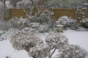 La neige est arrivée le 1er mars 2018!