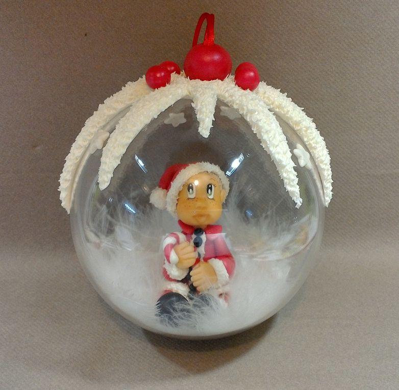 """Boule avec bébé """"mon 1er Noël"""""""