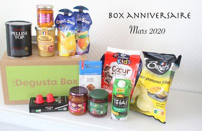 What's in the Degusta Box : Mars 2020 - Anniversaire