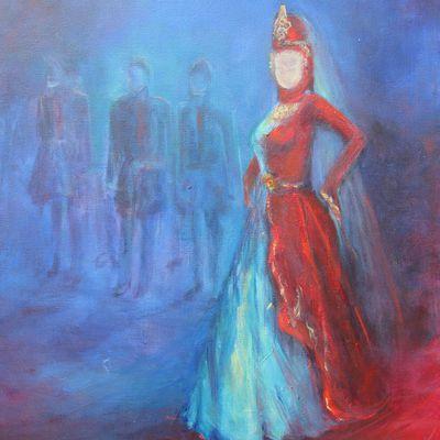 danseuse sous les projecteurs