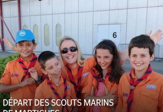 DÉPART DES SCOUTS MARINS DE MARTIGUES