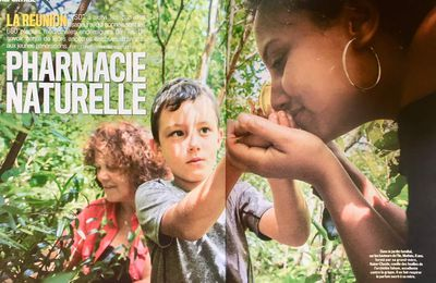 ILE DE LA REUNION: PHARMACIE NATURELLE, VSD Avril 2018, Grand Reportage texte et photos