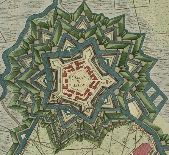 Perfection du plan de la citadelle voulue par VAUBAN