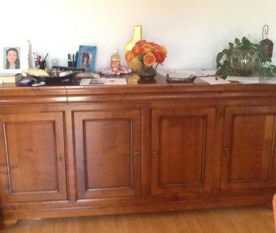 Relooker des meubles Louis Philippe en merisier avant après Le Plessis Robinson 92350