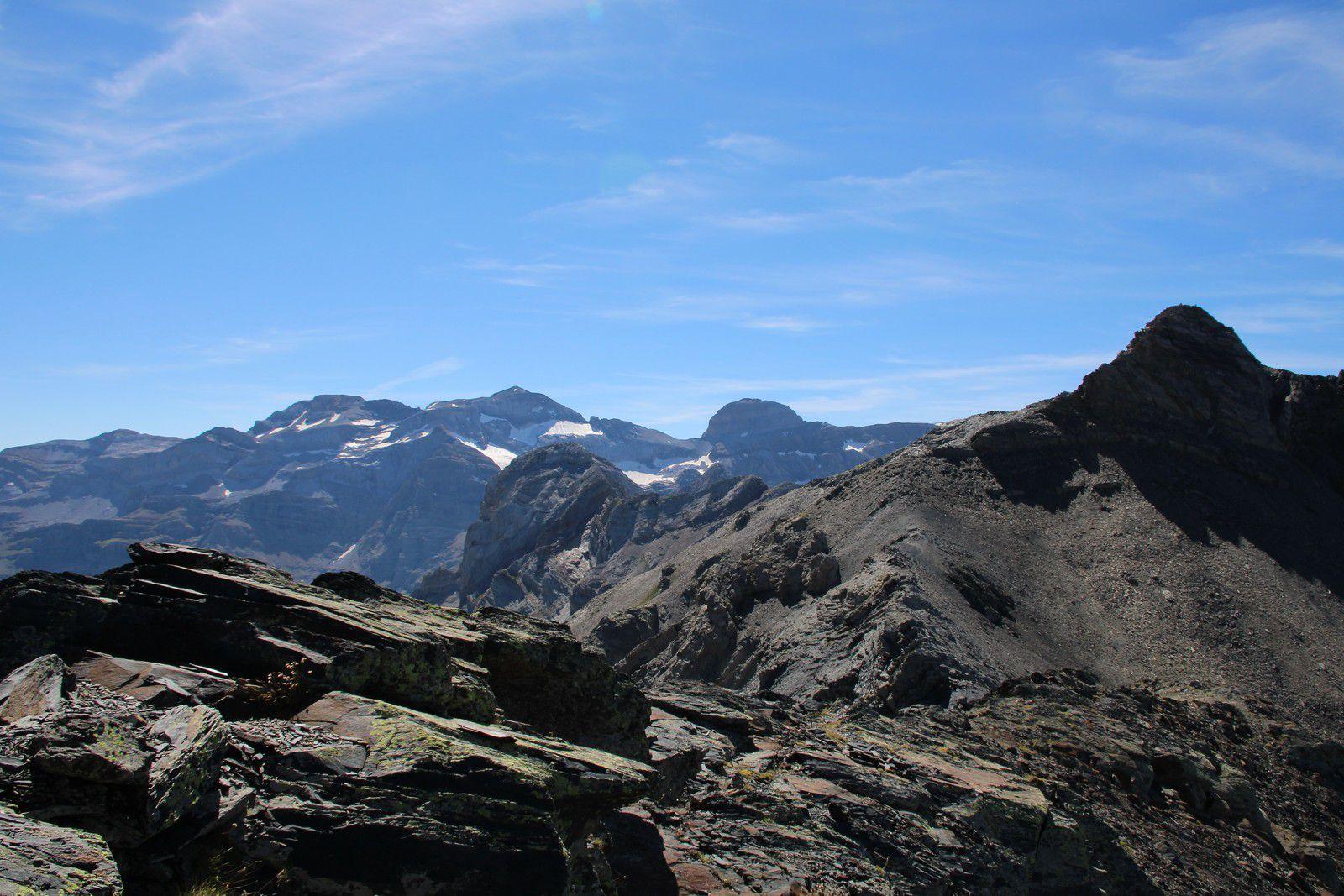 Massif du Mont Perdu et Gabiédou.
