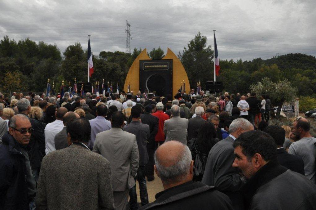 Inauguration du Mémorial National des Harkis à Jouques le 29 09 12