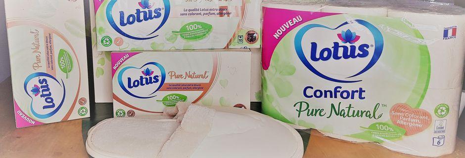 Lotus lance sa PREMIÈRE GAMME multi-Produits avec du papier naturel, biodégradable.