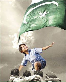 Very Beautiful and Cute Chilren - Pakistan Flag