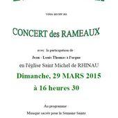Concert des Rameaux à Rhinau - anciens9genie.overblog.com