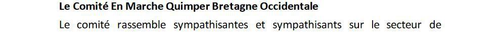 Deux nouveaux animateurs au Comité En Marche Quimper Bretagne Occidentale (communiqué)