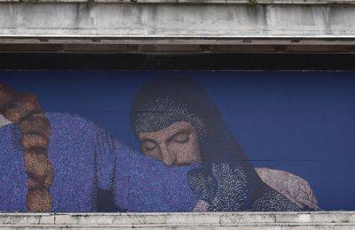 Le pointillisme de Nadège pour le Mur 26...