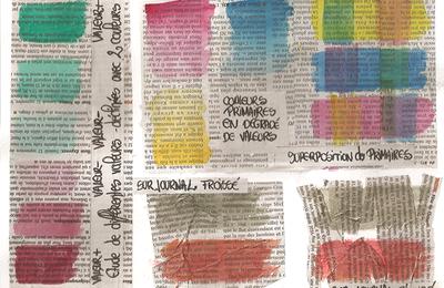 Séance 22 • aquarelle sur papier journal