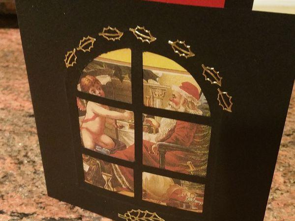 Carte; Chic: Homme; Femme; Noël.