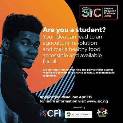 A chance to win over 30 million naira from the National Student innovative challenge. Find out below