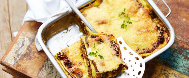 Lasagnes au confit de canard et cepes