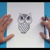 Como dibujar un buho paso a paso 3   How to draw a owl 3
