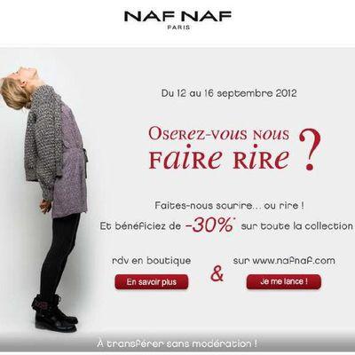 Naf Naf : fais moi rire et tu auras une réduction !