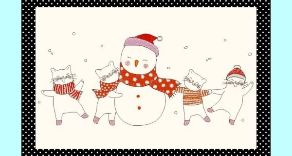 Broderie Amis chats pour Noël
