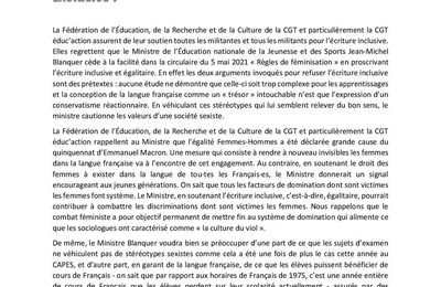 Le Ministre de l'Education nationale de la Jeunesse et des Sports Jean-Michel Blanquer pour l'écriture EXclusive