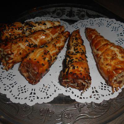 Cornets farçis à la viande hachée