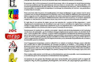 Lettre des Douze au Premier Ministre, M. Jean-Marc AYRAULT