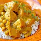 Poulet pois chiches curry weight watchers adapté cookeo |