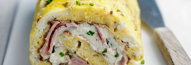 OMELETTE ROULEE JAMBON FROMAGE