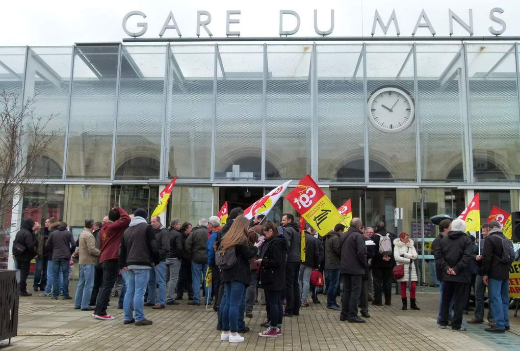 NON à la loi-travail : 4000 manifestants au Mans dont 350 cheminots