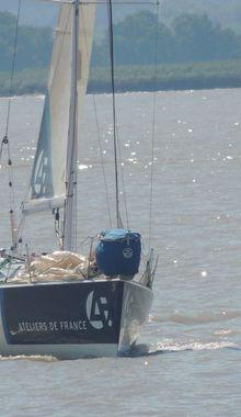 La Solitaire du Figaro : le bateau Région Aquitaine...