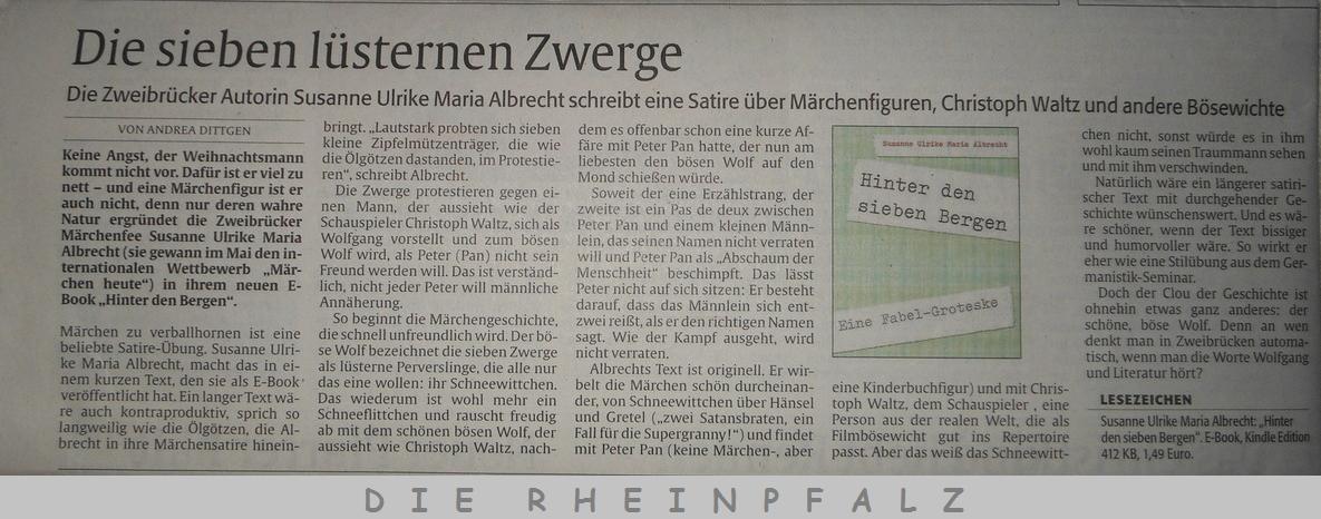 21. Dezember 2016 DIE RHEINPFALZ Susanne Ulrike Maria Albrecht