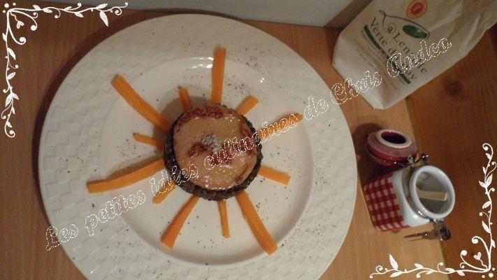 Soleil de lentilles vertes du Puy et foie gras poêlé