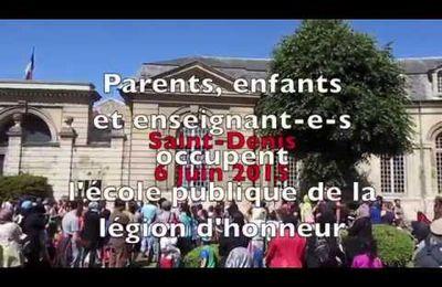 [Vidéo] Mobilisation Education : Occupation de l'école de la légion d'honneur et retour en image sur la grève du jeudi 4
