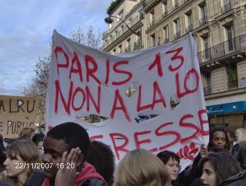 Manifestation du 22 novembre 2007, Paris, France