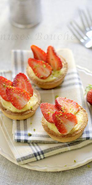 Tartelettes citron-fraises