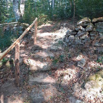 Le sentier des pierres