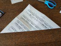 Préparer Noël , l'avent  J 15, Sapin en papier